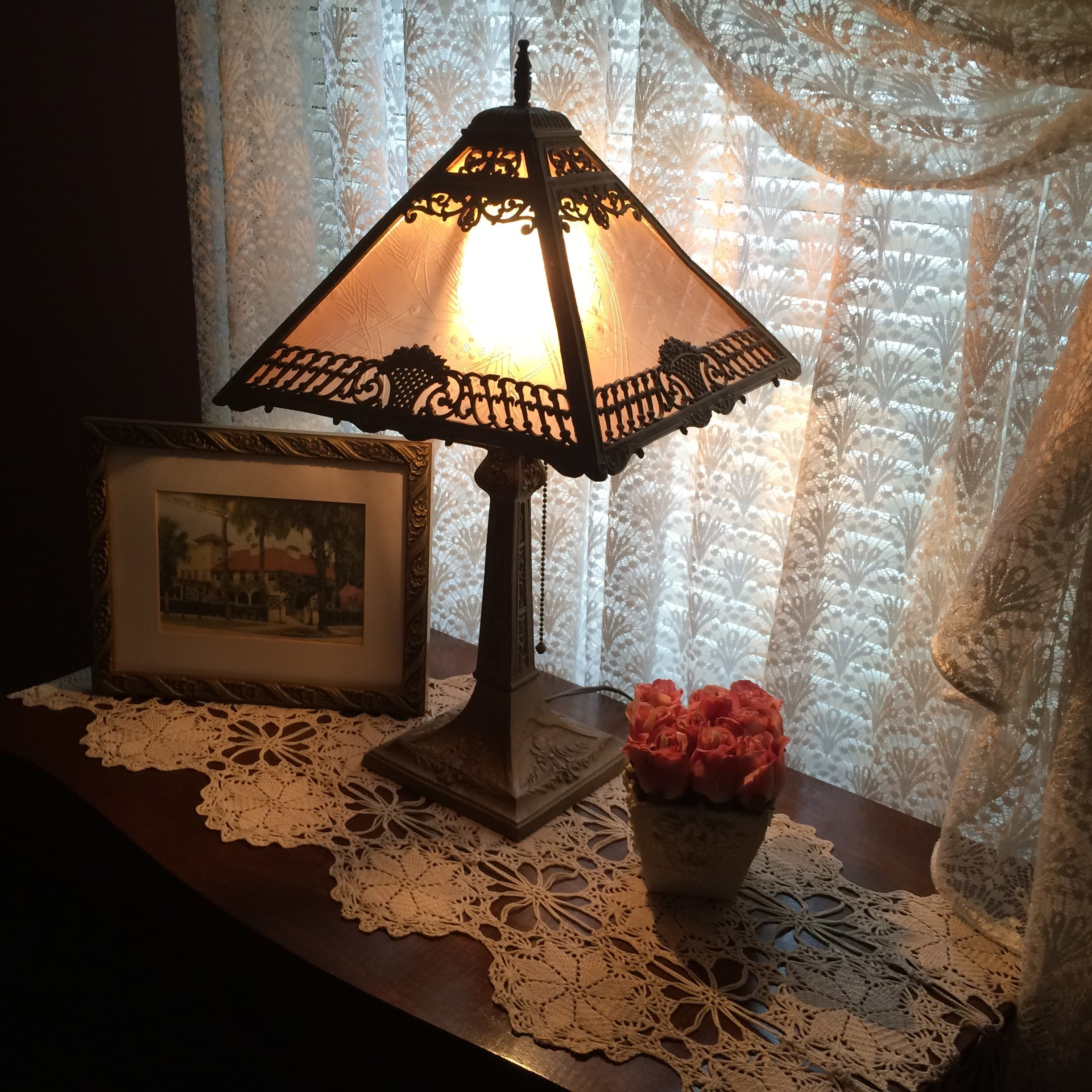 Lamp vignette in Master Suite