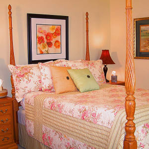 A Four Poster Bed with a Pillow-Top mattress set.