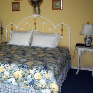The Garden Room - King Bed, 2 bedside tables and lights - ADA Compliant Room