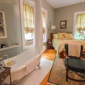 interior bedroom with bath