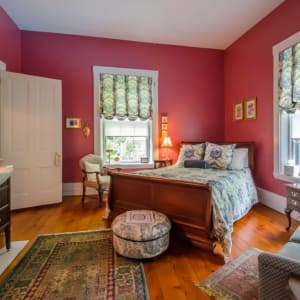 antique room with bed