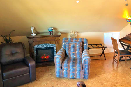 Olive Fire Place & Chairs
