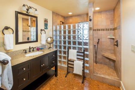 Olive Spacious Bathroom