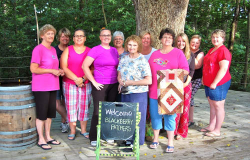 Ozark's Quilting Retreat - Blackberry Patchers Invade The Creek