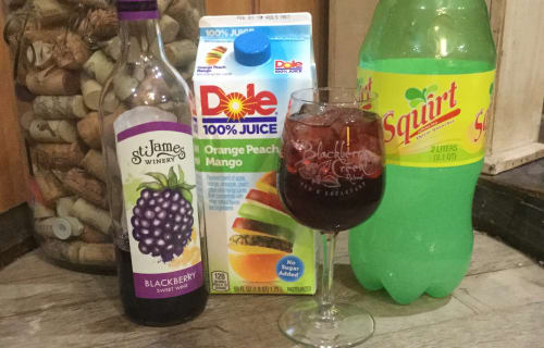 Our Welcome Blackberry Spritzer