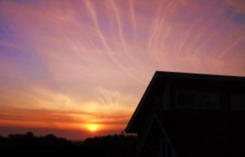 Winter Sunset at Boreas Inn, Long Beach, Washington!