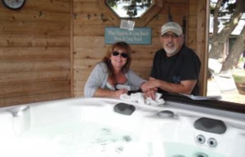 The Dawn of Boreas Inn's New Hot Tub