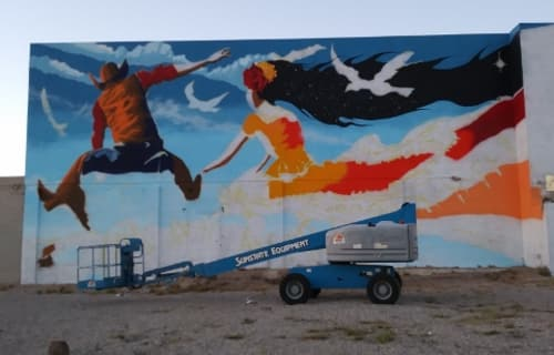 Tucson's Newest Mural....a work in progress...