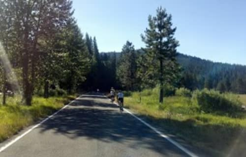 Opportuntity to Bike Lassen Park Main Road without Vehicular Traffic
