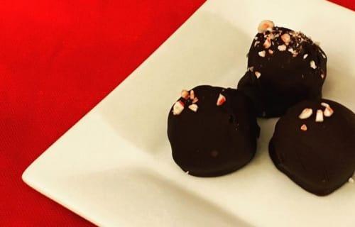 Peppermint-Oreo Cookie Balls