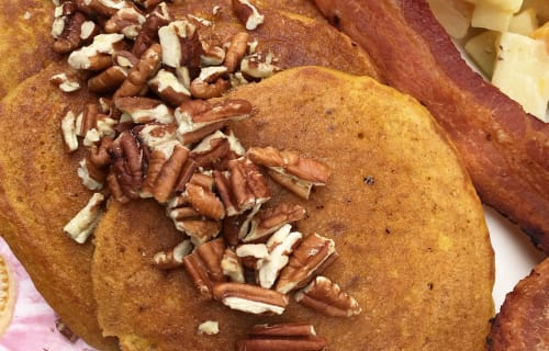 Let's Eat:  Sweet Potato Pancakes!