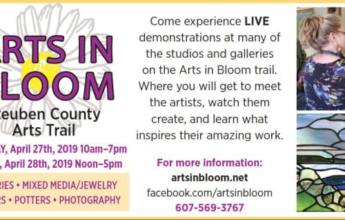 It's Arts in Bloom Week!