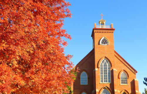 Historical St. Ignatius Mission Church near Bear Spirit Lodge B&B in MT