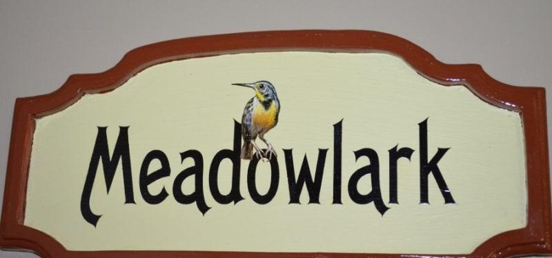 Meadowlark Room Plaque