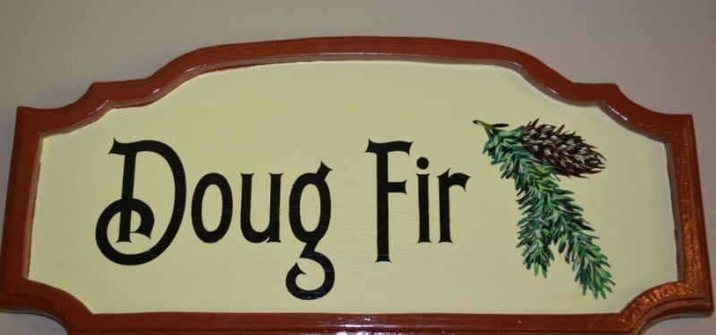 Douglas Fir Room Sign