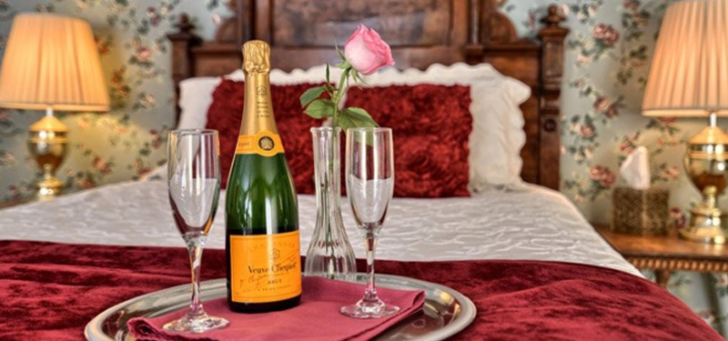Romance package add-ons including champagne, chocolates and flowers