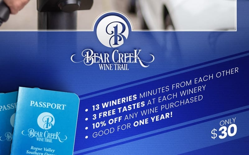 Explore the Bear Creek Wine Trail