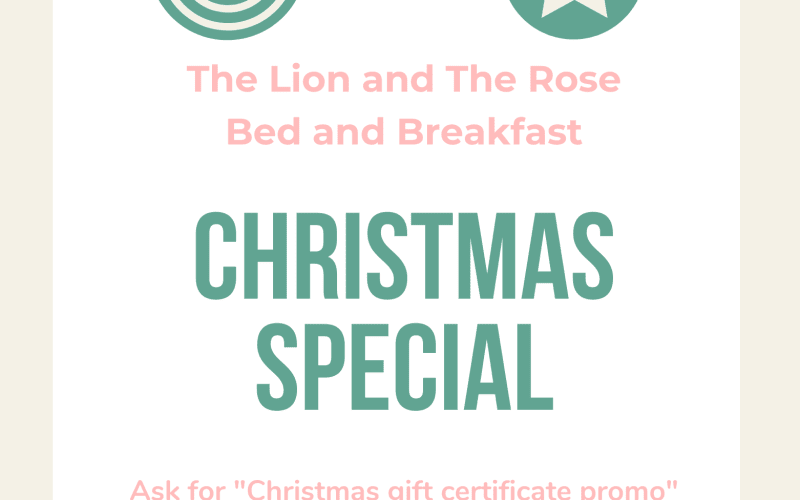 Celebrate the holidays with a gift certificate from our Asheville Bed and Breakfast
