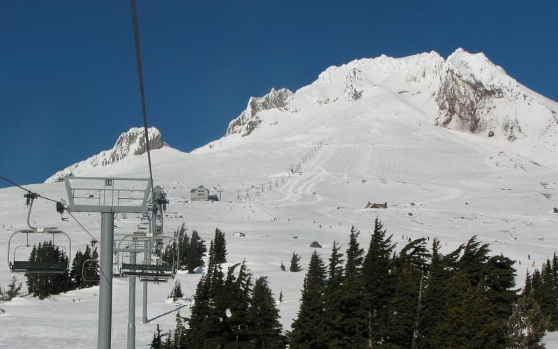 Take the Magic Mile Sky Ride on Majestic Mt Hood