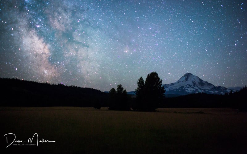 2020 Meteor Showers in the Dark Skies over Mt Hood