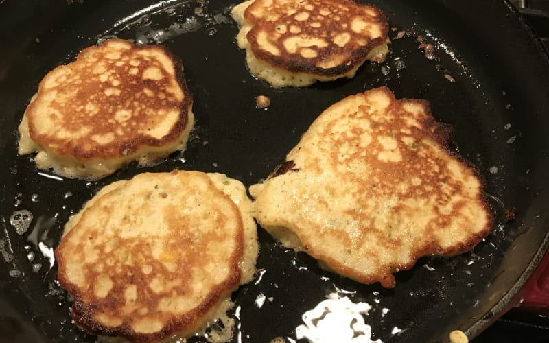 Fresh Corn Fritters for breakfast