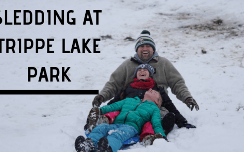 Sledding at Trippe Lake Park