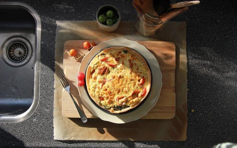 Recipe: Ham, Spinach and Cheese Quiche