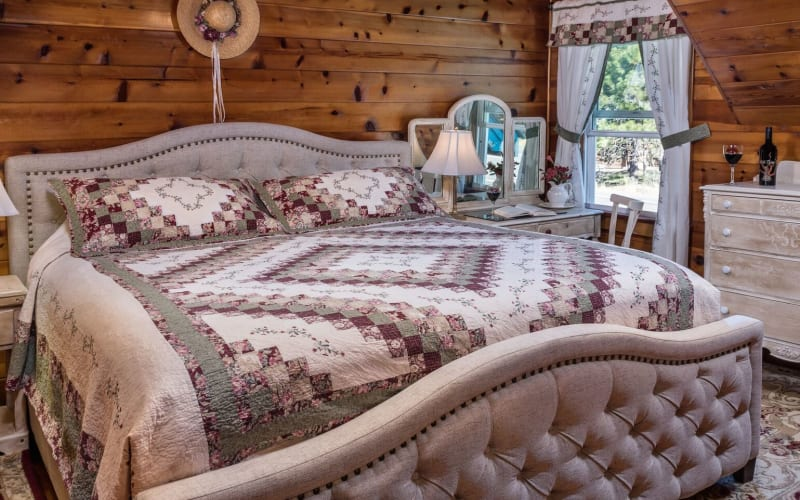 View of bed in Yesteryear