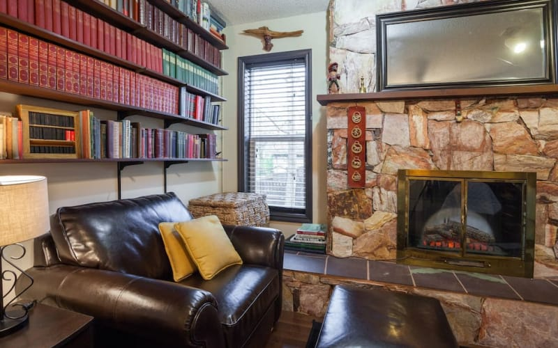 Comfortable chair and books