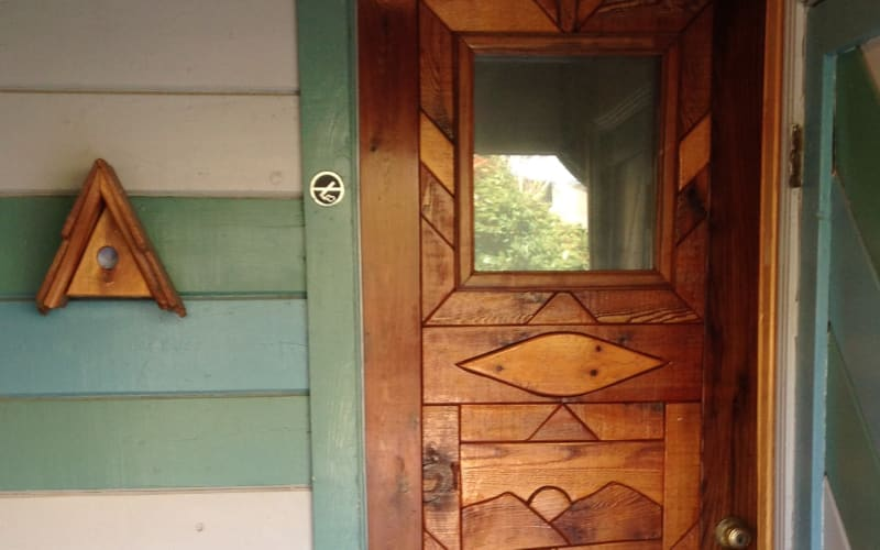 Decorative wood doors