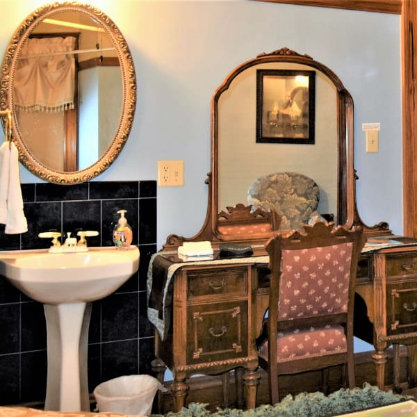 Elegant restroom in the Rhodes Room