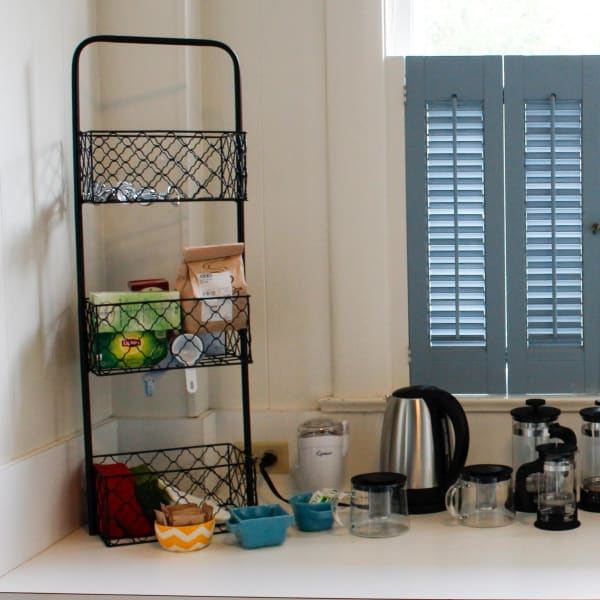 ...and Coffee Bar with French Press...
