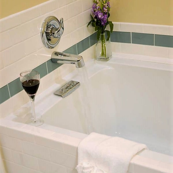 Enjoy a glass of red during that deep soak!