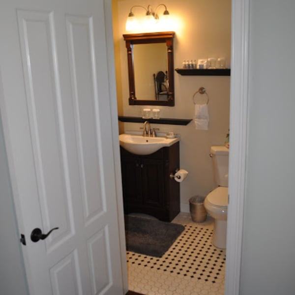 Private Bathroom, mosaic tile floor
