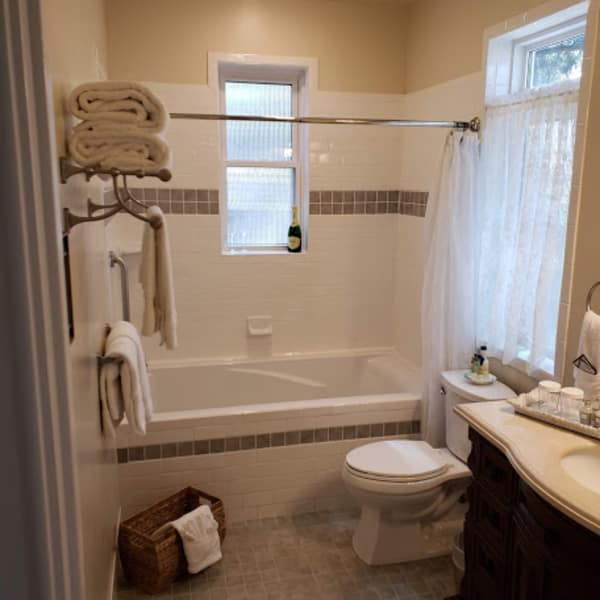 Light and airy with all custom amenities for your private bath