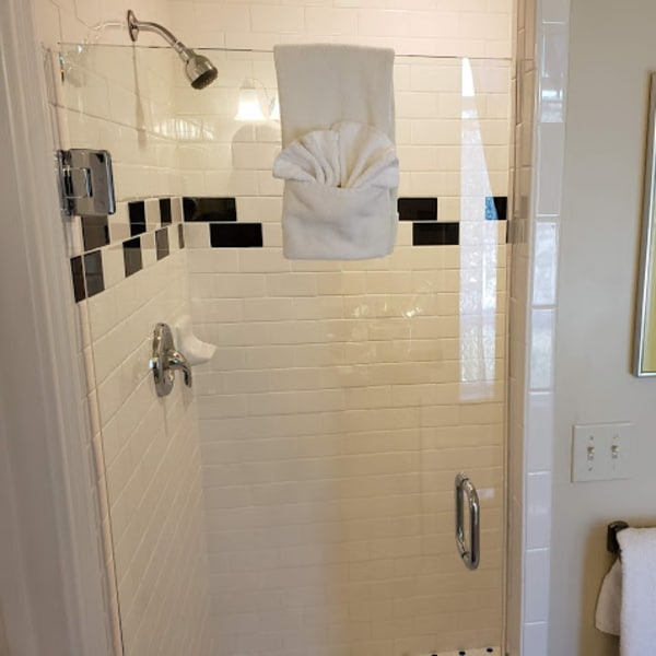 Private Bathroom features a separate custom tile shower