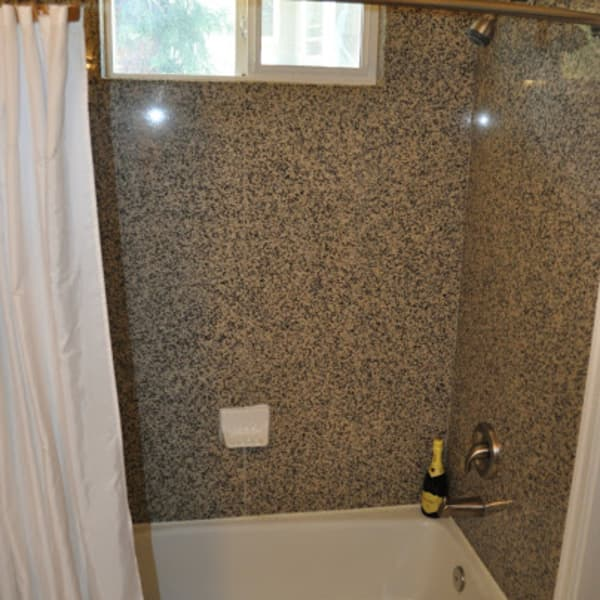 Granite slab tub/shower