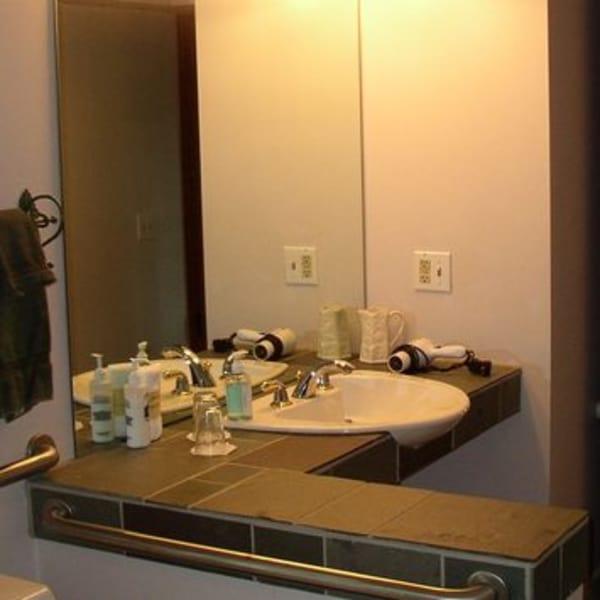 ADA Compliant Sink in ADA Compliant bathroom