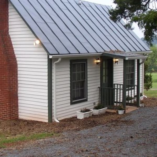 The School House is next to driveway and has its own entrance.  It is 80 yards  from the Manor House and is Pet Friendly.