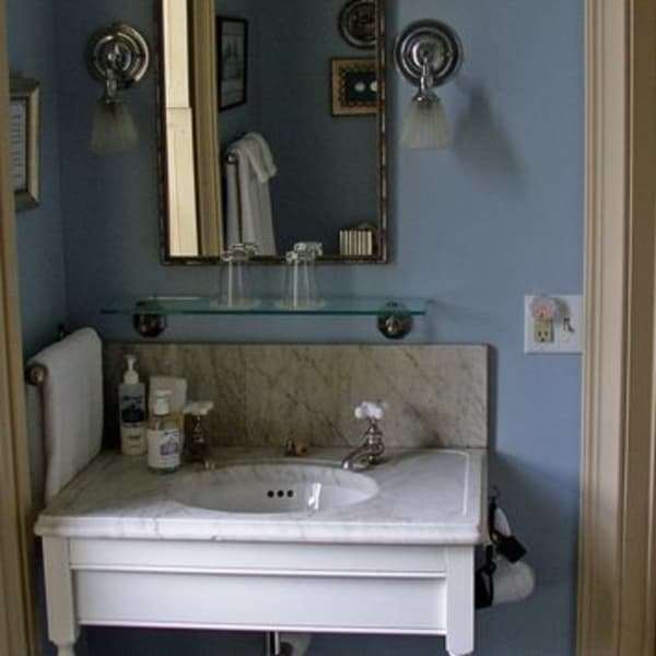 Madison Room Bath with antique marble sink