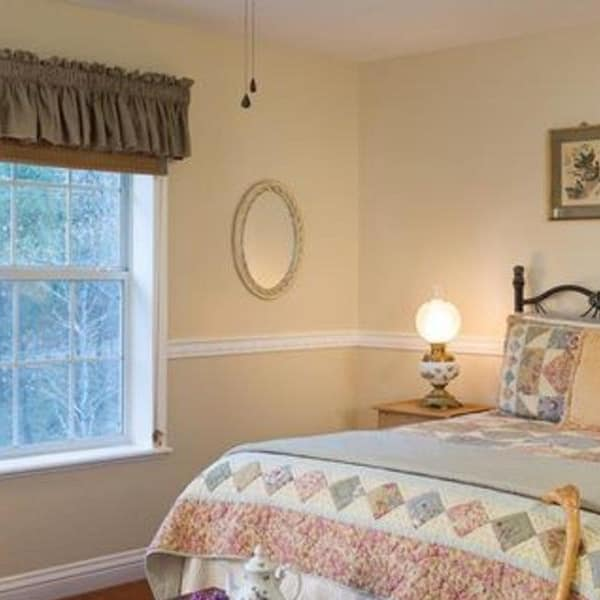 You can look out the window at our beautiful surroundings from bed in the Berry Patch room