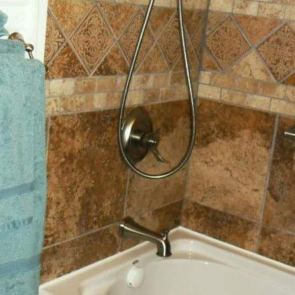 The shower in the Briar Rose Room