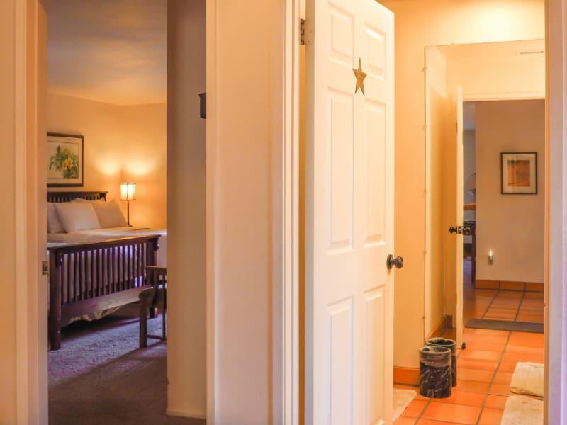 Left - Bedroom Door; Right - Private Detached Bathroom Door