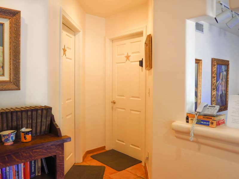 Left -Bathroom door; Right-Bedroom door