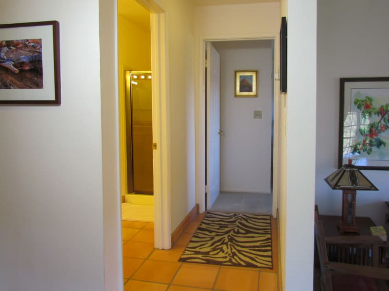 Left - Private Detached Bathroom; Right - Bedroom Door