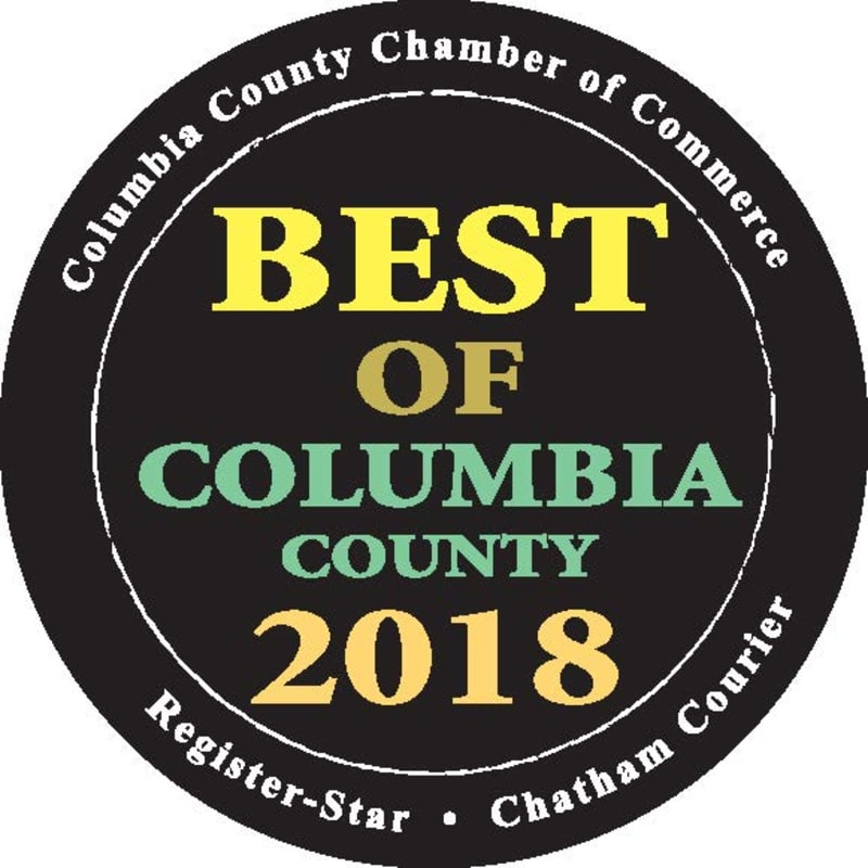Award logo for Best of Columbia County 2018