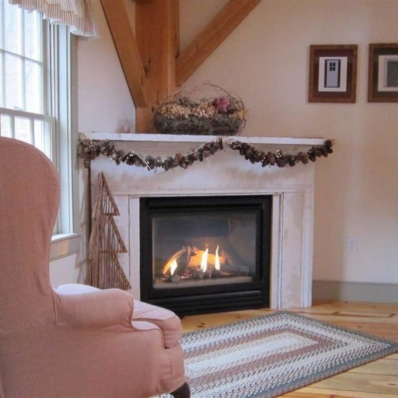 Photo of fireplace in Pines Duplex Suite