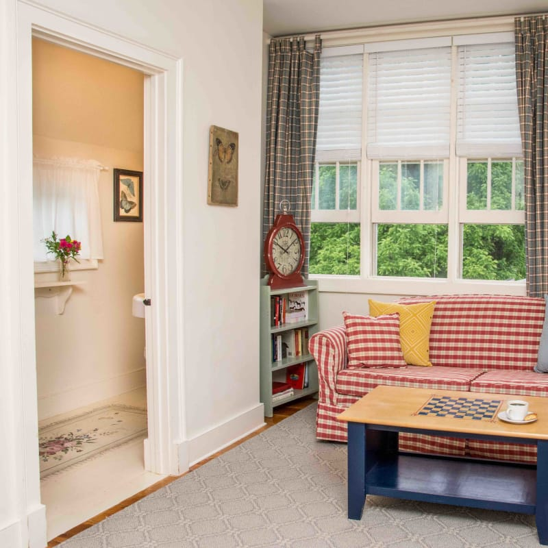 Sofa and small library in King Mini Suite
