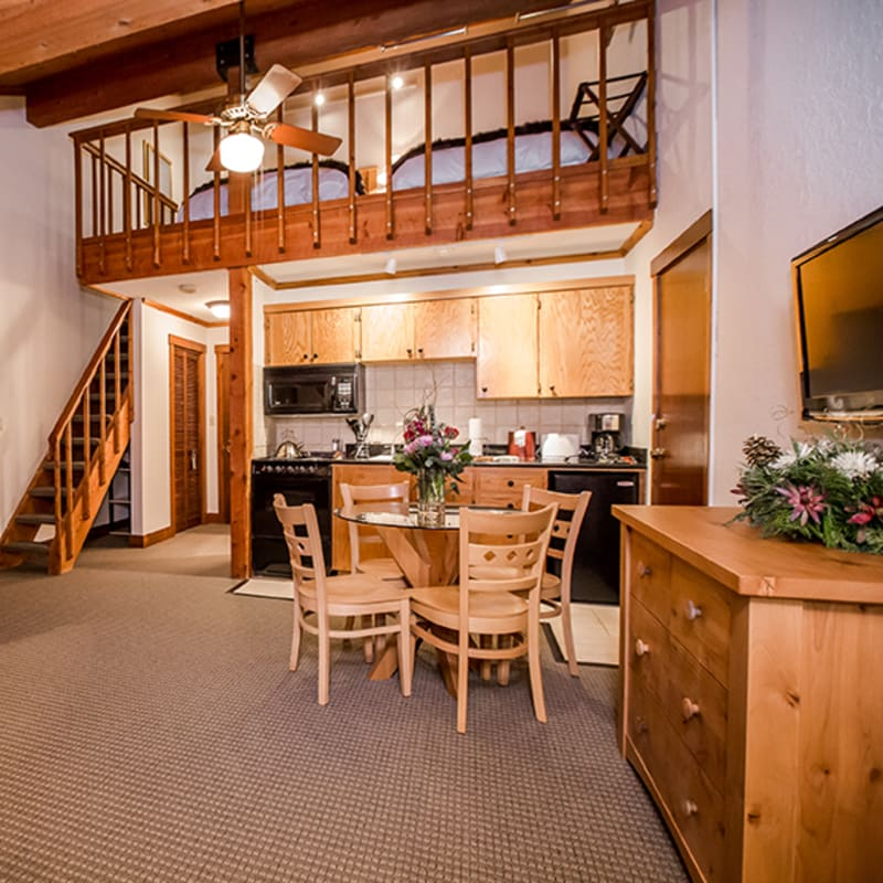 Lodge Kitchen Loft Whitefish Kandahar Lodge At