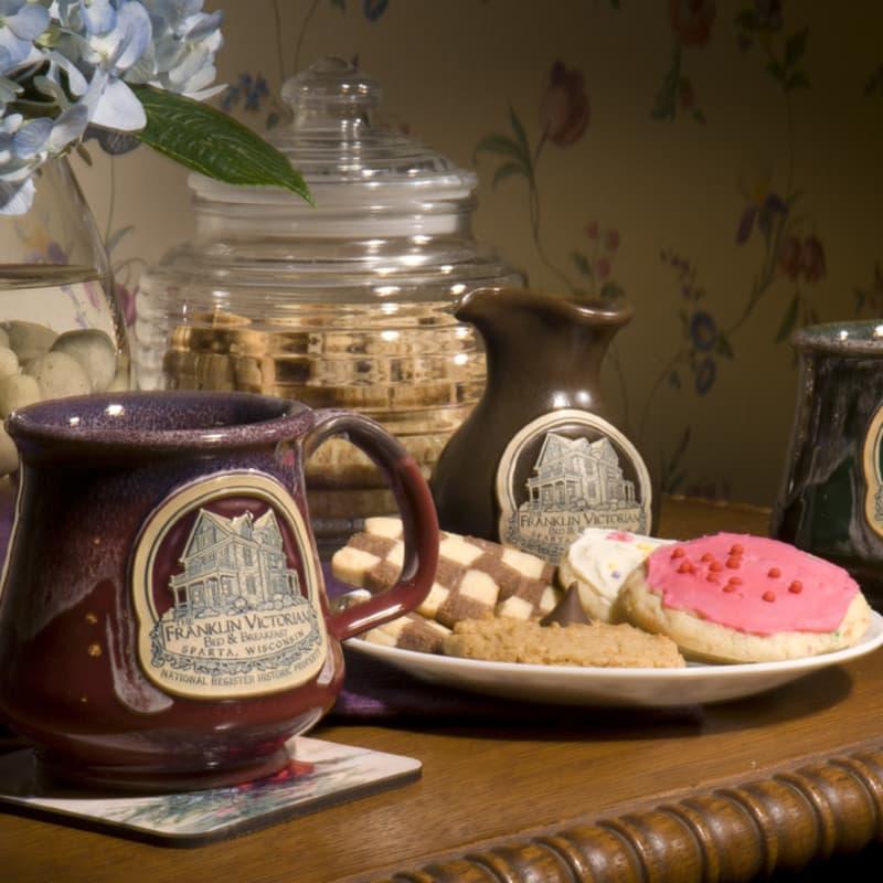 mug and cookies